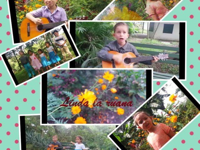 interpretación De los niños Kinjederpi y Nawaldeiki de la canción Linda la Ruana