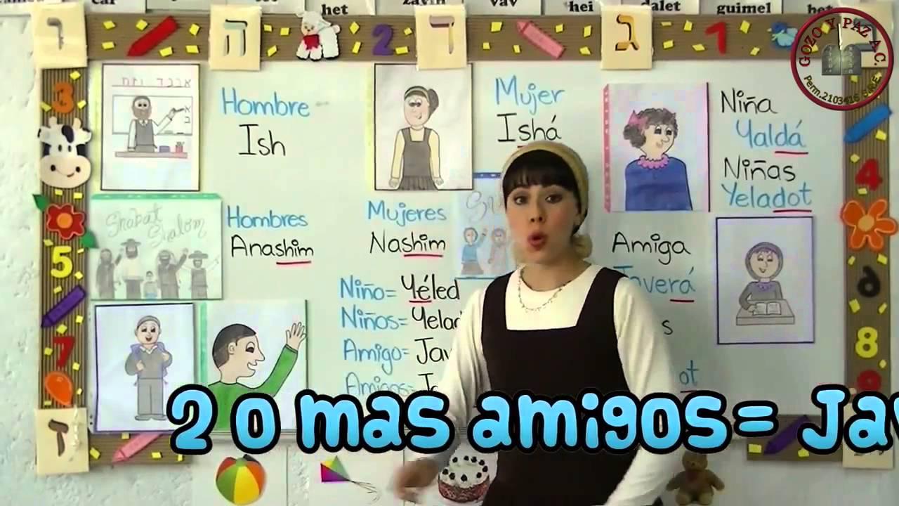 clases de hebreo para niños vocabulario General